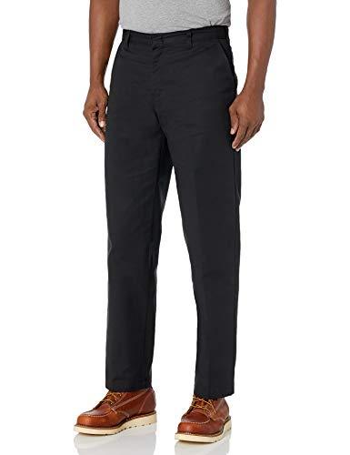 Dickies Men's Flat Front Pant, Black, 28X32