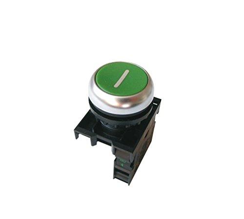 Eaton 216512 Drucktaster, 1 Schließer, Flach, grün, Frontbefestigung