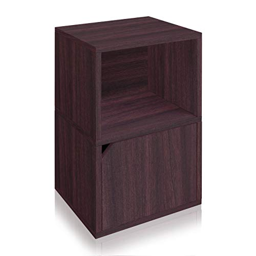 Way Basics Eco Friendly Shelf Under Under Desk Storage, Espresso