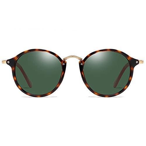 Kaper Go Gafas de sol polarizadas de policarbonato con montura de carey de color verde/marrón lentes para hombres y mujeres con la misma conducción (color: verde)