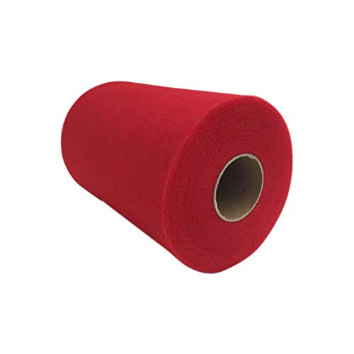 Tulle Roll Spool 6 Inch x 100 Yards (300FT) Wedding Party Decoration,Tutu Skirts by RayCC (Red Colour)
