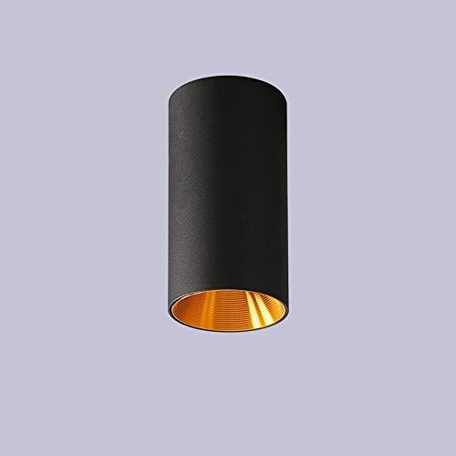 Ganeep Cilindro 10W Downlight Foco de techo creativo con el oro interior,...