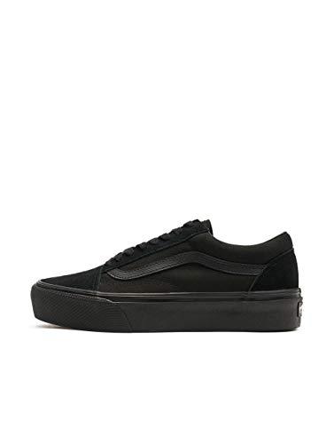 Vans Damen Old Skool Platform Sneaker, Schwarz Black White BKA, 40.5 EU