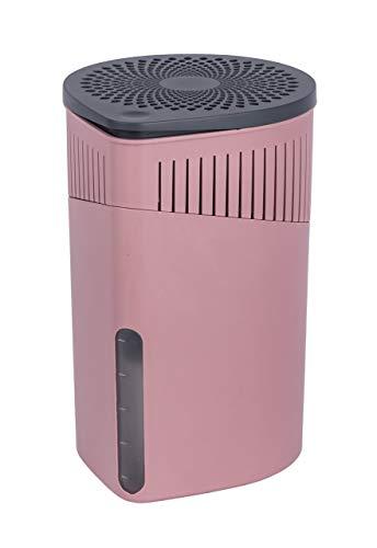 WENKO 50242100 Raumentfeuchter Drop, 1000 g, Luftentfeuchter Fassungsvermögen: 1,6 l, 15 x 23 x 15 cm, rosa