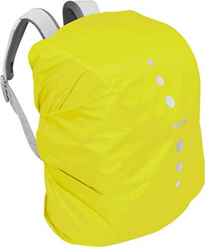 Playshoes Unisex Kinder Regenhülle für Rucksack Gepäck,Gelb(43 neongelb),M
