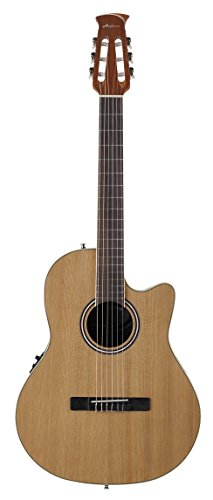 Ovation Applause Balladeer AB24CII-CED Mid Depth Classical Guitar, Natural Cedar