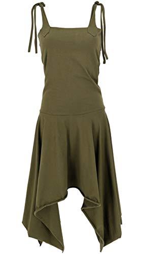 Guru-Shop, Converteerbare Goa-jurk, Psytrance Festivaljurk. Pixi Rock, Bruin, Katoen, Size:10, Lange Midi-jurken