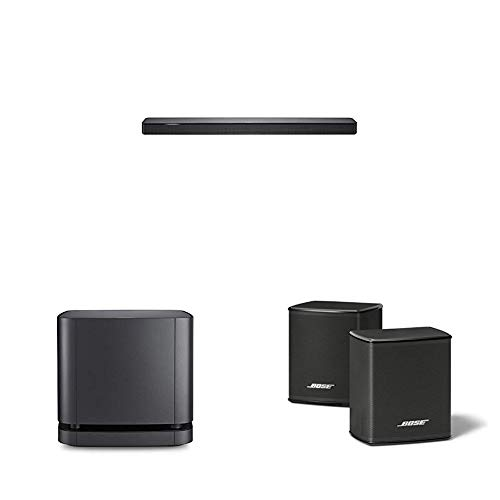BOSE Soundbar 500 + Lautsprecher Bass Module 500 + Surround Speakers, schwarz, mit Alexa-Integration
