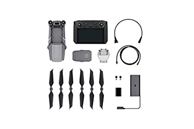 "DJI Mavic 2 Pro - Drone Quadcopter UAV with Smart Controller with Hasselblad Camera 3-Axis Gimbal HDR 4K Video Adjustable Aperture 20MP 1"" CMOS Sensor, up to 48mph, Gray"