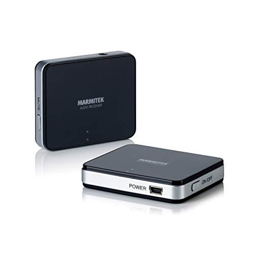 Funk Audio Übertragung - Marmitek Audio Anywhere 625 - Fernseher drahtlos mit Stereoanlage - 3,5mm Klinkenanschluss - digitale Technologie ohne Qualitätsverlust - wireless Audioverbindung