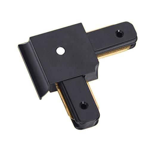 XXE LED-Schienenlicht-Adapter, 1 Meter Schiene Scheinwerfer direkte Adapter (Color : Bent Joint, Size : Black)