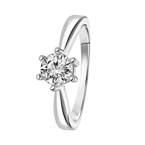 Diamond Solitair - Weißgoldener Solitärring mit Diamant (1.00 ct). - für Damen - Weiß