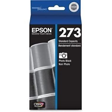 Genuine Epson 273 Color (Black/Photo Black/Cyan/Magenta/Yellow) Ink Cartridge 5-Pack (Includes 1 each of T273020,T273120, T273220,T273320,T273420) for Epson Expression XP-600/800 and Epson Expression Premium XP-610/810 printers