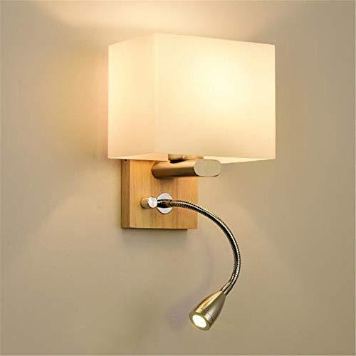 IJeilo eenvoudige creatieve slaapkamer-bed-overkapping, vaste houten duurzame lamp, ongeacht of het nu perfect is of niet