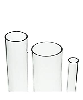 Source One Deluxe Clear Acrylic Tube 2 Inches Thick  12 Inch 2 Inch Wide