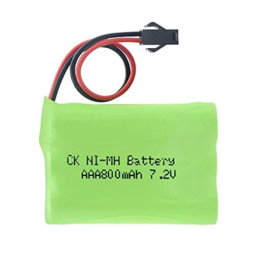 Batería De 7.2v 800mah 6 * AAA Ni-Mh, Paquete Recargable con Paquetes De BateríAs del Conector Sm-2p