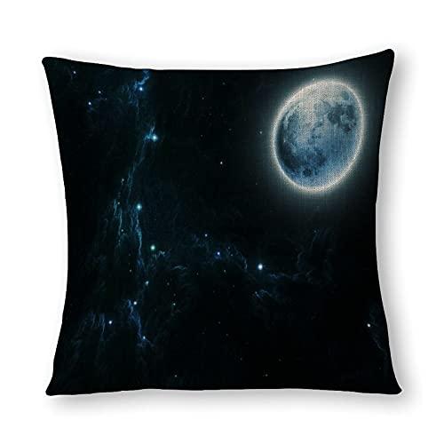 Beautiful Dream Moon and Stars - Funda de almohada (impresión de doble cara), diseño de luna y estrellas, 40 cm x 40 cm