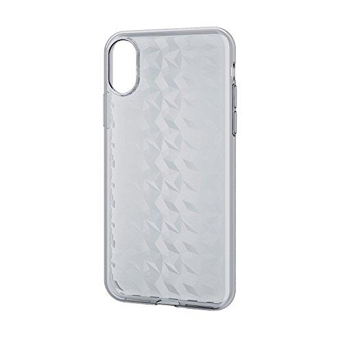 エレコム iPhoneX ソフトケース ダイヤモンドカット クリア PM-A17XUCJCR 1個 ELECOM