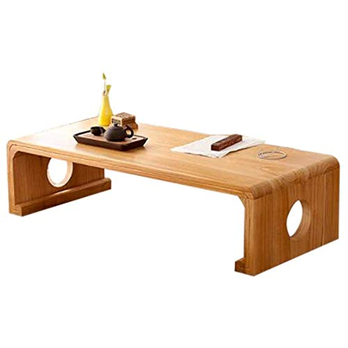 Japanse stijl Low Table Antique Piano Table Living Room Tatami Tafel Massief houten salontafel Center, Tabellen Balkon Viewpoint Table 60cm