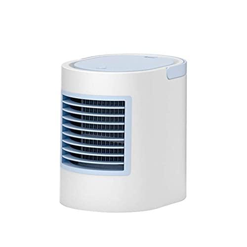 DFJU Mini USB portátil refrigerador de ar com Ventilador de ar condicionado 7 Cores luz de Mesa purificador de umidificador de Ventilador de resfriamento de ar para Quarto de escritório