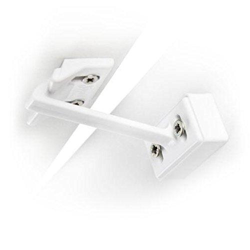 Jippie's 83609 - Chiavistello di sicurezza per cassetti e armadi, colore: Bianco
