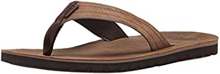 Reef Mens Sandal Voyage Le    Premium Real Leather Flip Flops for Men With Soft Cushion Footbed   Waterproof