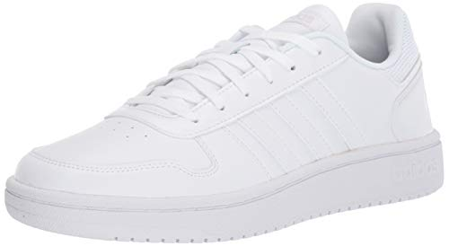 adidas Women's Hoops 2.0 Sneaker, White, 7 M US