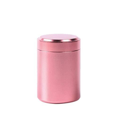 wyxhkj Vorratsdosen Mini Tragbar Kaffeedose Versiegelt Dosen für Kaffeebohnen oder Kaffeepulver, Tee, Nüsse, Kakao,80ML (pink)