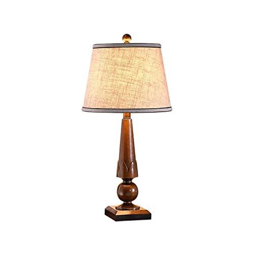 DYXYH Moderna Simple de la Sala de Estar de la Familia Dormitorio Mesita de luz de la lámpara del Tambor de la Sombra de Madera Cono harina de Avena