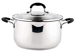 top rated Stainless steel casserole with glass lid, 6 liters of casserole, casserole … 2021
