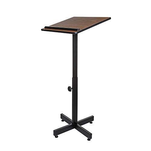 OEF Furnishings Height Adjustable Portable Lectern Stand - Medium Oak
