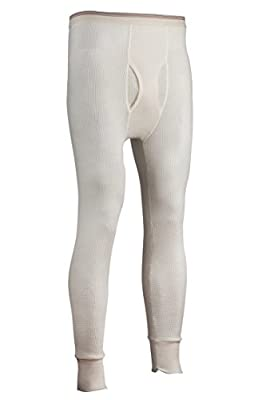 Indera Men's Tall Traditional Long Johns Thermal Underwear Pant, Natural, LargeTall