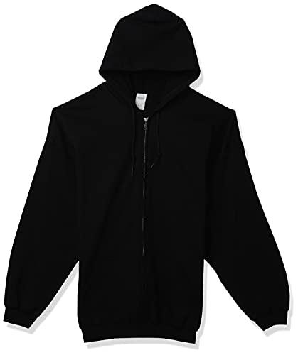 Gildan Men's Fleece Zip Hooded Sweatshirt, Style G18600, Black, 3X-Large