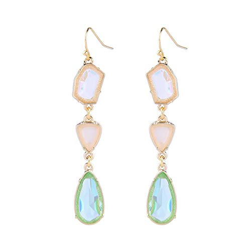 Buy Goddesslili Emerald Earrings for Women Girlfriend Girls Ladies Creative Small Fresh Geometric Dr...