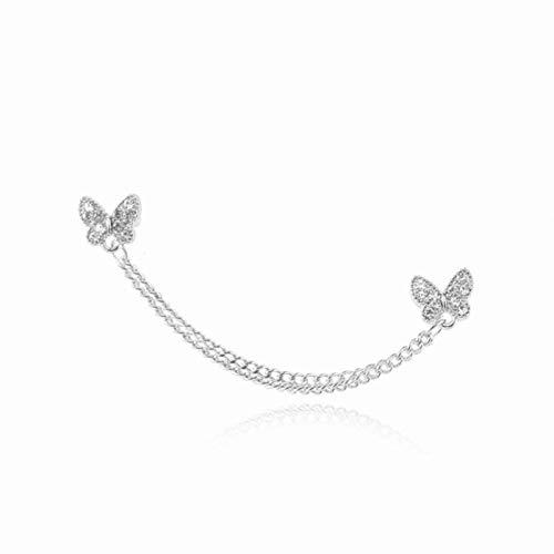 SALAN Fairy Bling Rhinestones Mariposa Pendiente De Borla Larga para Las Mujeres Color De Oro Chunky...