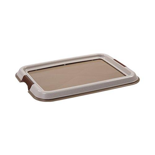 IRIS, Welpentoilette / Training Pad Halter für Hunde / Tablett für Trainungsunterlagen 'Pet Tray' FT-495, Kunststoff, beige, 49 x 36,5 x 3,2 cm