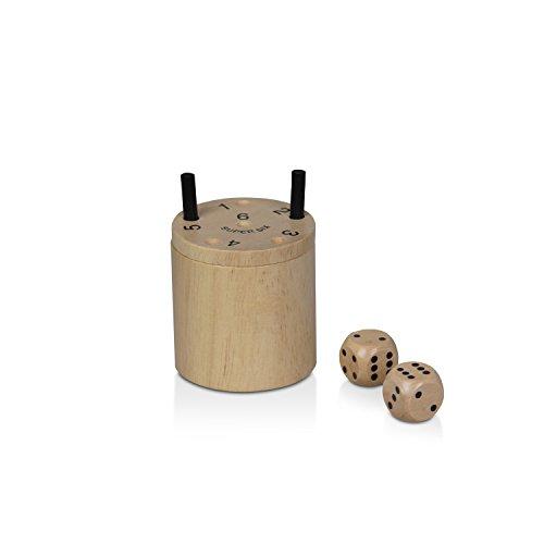 BestSaller 3030 'SUPER SIX' Holz, auch für die Reise, 36 Spielstäbchen & 2 Würfel, Natur (1 Stück)