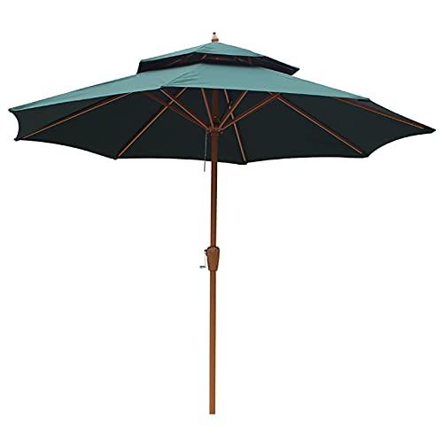 Lqdp Sombrilla Sombrilla Grande para Patio, sombrilla con protección UV de 2,7 m con manivela y 8 Varillas, sombrilla para jardín Trasero