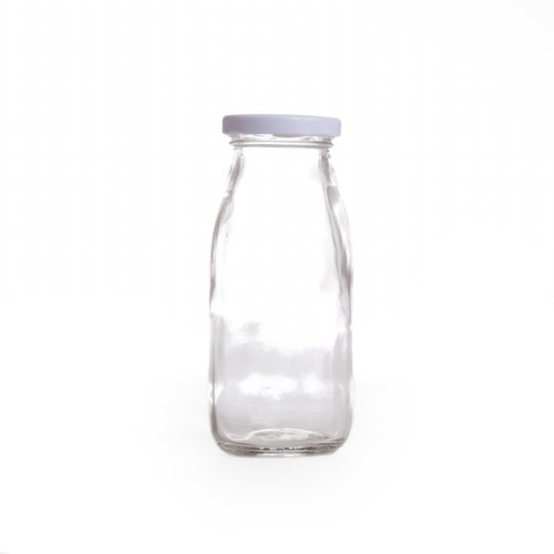Dress My Cupcake DMC93341 12-Pack Vintage Glass Milk Bottles, 8-Ounce