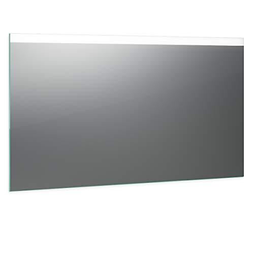 Spiegel ID Noemi Design: LED BADSPIEGEL mit Beleuchtung - nach Wunschmaß - Made in Germany - Auswahl: (Breite) 140 cm x (Höhe) 80 cm - Modell: 2205001