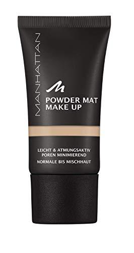 Manhattan Powder Mat Make-up, Mattierendes Puder und Foundation in einem, Farbe Sand 80, 30 ml
