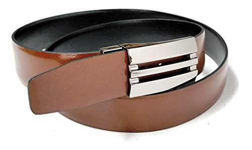 YOJAN PIEL Cinturón de PIEL de Ubrique, Reversible a Negro y Marrón | Cinturón Elegante Para Vestir en Bodas y Eventos Formales | Cómodo y Ajustable a su Medida