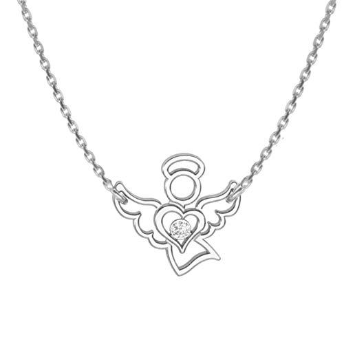 butterfly Mädchen Zarte Halskette Silber 925 Engel-Anhänger Schutzengel Glücksbringer Längen-verstellbar Satin-Beutel Firmung Geschenk