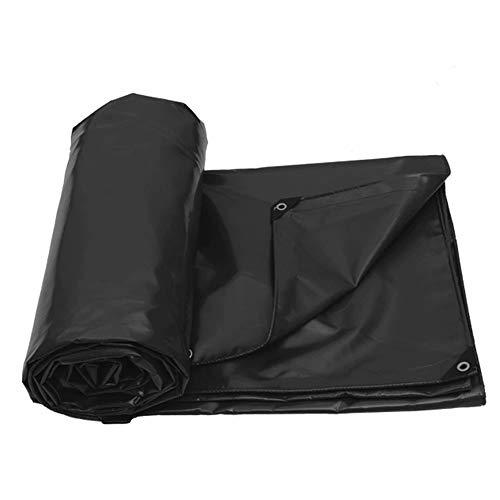 GG-tarpaulin Bâche épaisse en PVC bâche Pare-Soleil et bâche Anti-Vent bâche de Protection auvent en Tissu Anti-vieillissement crème Solaire Anti-Gel Noir