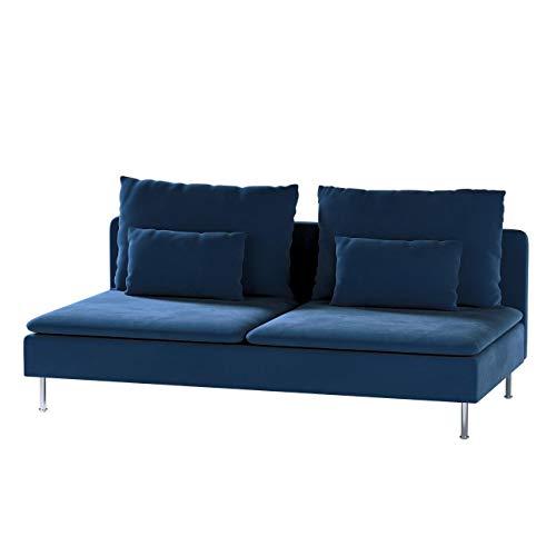 Dekoria Söderhamn Bezug für Sitzelement 3 Husse passend für IKEA Modell Söderhamm dunkelblau