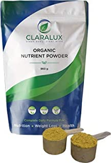 Claralux Daily Use Nutritional Powder 100% Organic Non GMO Dairy Gluten Soy Free for Detox/Cleanse, Weight Loss, Immunity,...