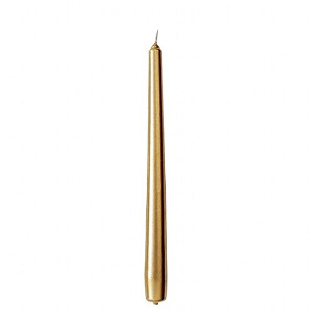 安いですセンチメンタル挨拶カメヤマキャンドル(kameyama candle) 10インチテーパー 「 ゴールド 」 12本入り
