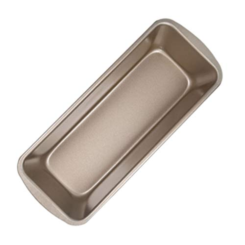 HEMOTON Steel Loaf Pan Rectangular Bread Baking Mould Non- Stick Cake Toast Box Loaf Tin rownie Mold Baking Tools for Kitchen Dining Cooking Supplies M Golden