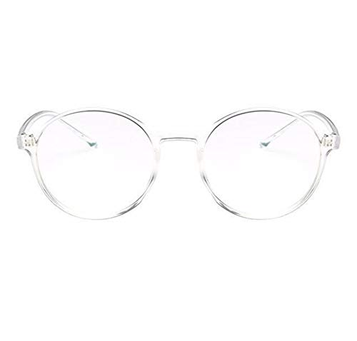 Without Marcos de Gafas Mujeres Gafas Marco Menaje Eyeeglasses Marco Vintage Redondo Claro Lente Claro Gafas Spectacle Optical Frame Transparente (Frame Color : Transparent)