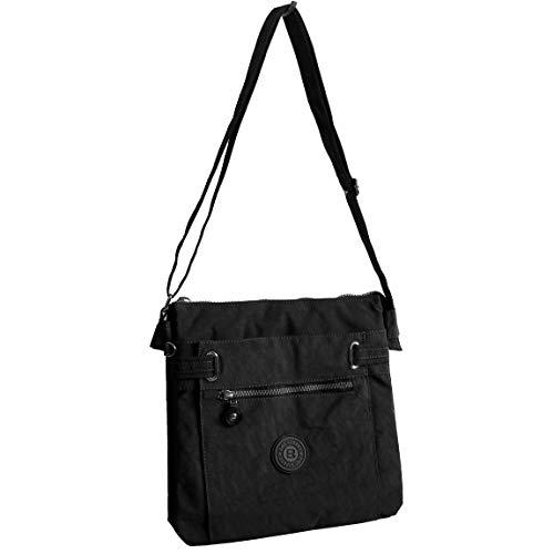 Borsa a tracolla in tessuto di Bag Street–Borsa a tracolla borsa per il tempo libero wandertasche Sport Borsa in tessuto Crossbag in nylon–(colori assortiti) presenta da ZMOKA, nero (Nero) - 0